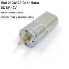 20mm Dc 6v 12v Slow Speed Mini 130 Full Metal Gear Motor Large Torque Robot Car