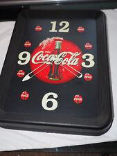 """Retro Coca Cola Advertising Wall Clock 15"""" x 19"""""""