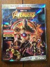 The Avengers Infinity War Blu-ray Disc 2018 w/ Digital Code & Outer Sleeve New