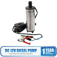 12V Liquid Diesel Fuel Pump Submersible Transfer Vessel Water Oil Car  DC White