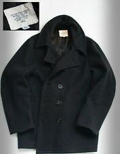 ALPHA INDUSTRIES NAVY PEACOT GIACCA/CAPPOTTO USN ORIGINALE MADE IN USA ! RARO !
