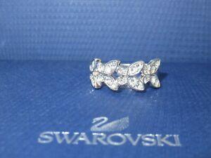 "GENUINE Swan Signed SWAROVSKI ""Nightingale"" Pattern Ring - Size 60 -  #1126784"