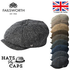 Failsworth Carloway Harris Tweed Newsboy Peaky Blinders Flat Gatsby Cap