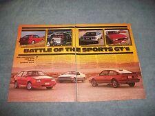1986 Ford Escort GT vs. Toyota Celica GT-5 vs. Chevy Cavalier Z24 Info Article