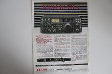 ICOM - 751a (solo opuscolo ORIGINALI)... RADIO _ Trader _ Irlanda.