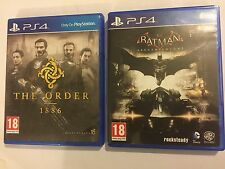2 X UK/Euro PAL Playstation 4 Jeux PS4 Batman Arkham Knight + The Order 1886