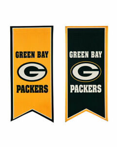 """Green Bay Packers 12.5"""" x 28"""" Double Sided Flag/Banner"""