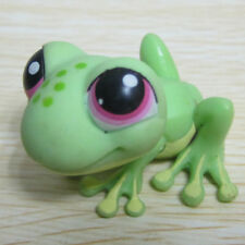 Littlest Pet Shop Animals LPS Figure Toy Gift Green Frog Spots Pink Eyes #283