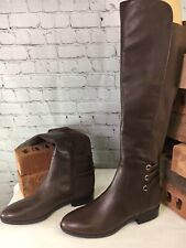 Vince Camuto Wide Calf Brown Leather Tall Shaft Boots Pauletta Women Size 9.5M