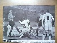 Original Hand Signed Press Cutting- Soccer Stars'' BILLY DAVIES ''