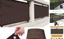 Privacy Fence Screen Windscreen Cover, 3x6 ft Fabric Shade Tarp 3ft*6ft Brown