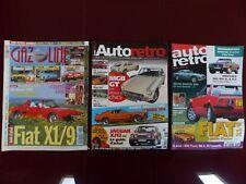 lot de 3 magazines automobiles avec des articles sur la FIAT X1/9 X1-9 Bertone