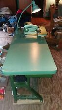 New Listing Union Special 718 2 Blind Stitch Hemmer Sewing Machine With Motor Amp Table