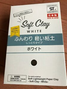 Soft Clay 1 pack WHITE Free Shipping Japan Daiso
