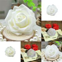 50x Handgemachte Künstliche Rosen Fake Schaum Blumen Köpfe Hochzeit Party D J9P9