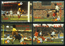 St Lucia 578-581, MNH. World soccer Cup, Spain. Various soccer players, 1982