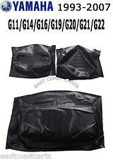 Yamaha 1993-2007 G11-G22 Golf Cart BLACK Seat Back & Seat Bottom Cover Set of 3