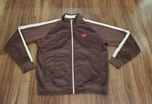 Mens Nike Long Sleeve Full Zip Track Jacket Size XL Brown