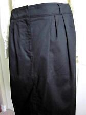 "BURBERRY LONDON New Woman Black Cotton Knee Skirt 30"" Waist SZ 6 NWT Rt. $445"