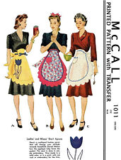 Vintage Misses' McCall Scalloped Apron Fabric sewing pattern #1011
