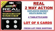 Stacker 2 Real 2 Way Action Diet and Energy 4 ct (Lot of 6 X) 24 TWO WAY Tablets