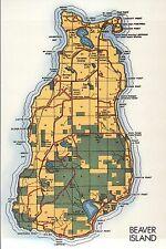 Beaver Island in Northern Lake Michigan, Archipelago, St. James etc Map Postcard