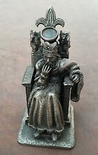 Gorham The King Arthur Chess Pewter Replacement Piece King Only Missing Crystal