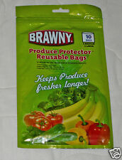 Brawny Produce Protector Reusable Bags Keep Fresh Longer 10ct Fruits Veggies