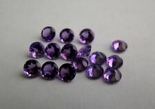 Natural Amethyst 5mm Round Faceted Cut 5 Pieces Purple Color Loose Gemstone A