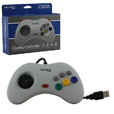 NEW Sega Saturn Style USB Gray Classic Controller Joy Pad for (PC MAC) Computer