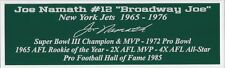 Joe Namath Autograph Nameplate New York Jets Autograph Helmet Jersey