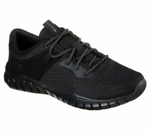 Skechers Sport Black shoes Men Memory Foam Walk Mesh Comfort Light Casual 52815