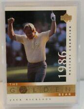 2001 UPPER DECKJACK NICKLAUS THE GOLDEN BEAR COMPLETE SET OF 18 GOLF CARDS