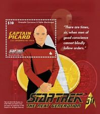 Grenada - Star Trek - Captain Picard, Souvenir Sheet