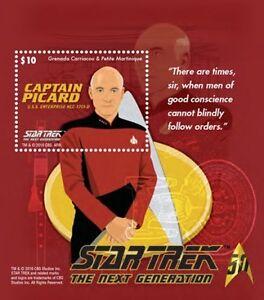 Grenadines - 2015- Star Trek - Captain Picard, Souvenir Sheet