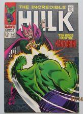 INCREDIBLE HULK #107 VERY FINE- VF- 7.5 MARVEL COMIC BOOK 1968 THE MANDARIN