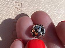 Genuine Pandora Silver & 14CT 14k Gold Charm - Letter I - 790298I