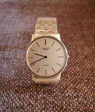 Rare Vintage Lassale Seiko - Gentleman's Ultra Thin Watch - Solid 14kt Gold