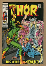Thor #167 - This World Renounced! - 1969 (Grade 6.5) Wh