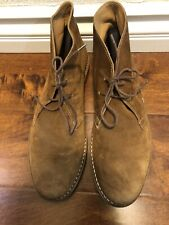 BARNEY'S NEW YORK CO OP Brown Suede Boots made in Italy Mens sz 11 US