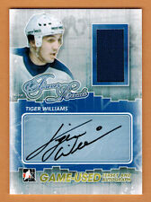 2012-13 ,ITG , IN THE GAME , TIGER WILLIAMS , FOREVER RIVALS ,AUTO ,JERSEY ,/10