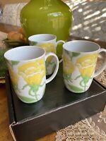 Fitz And Floyd Yellow Rose Coffee And Tea Mug