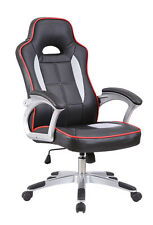 New AERO Executive PU Faux Leather Office Computer Racing Chair Black White