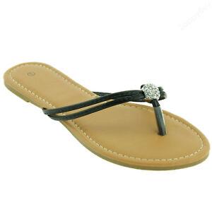 New Women Cute Flat Sandal Two-strap Thong Flip Flops Style Shoes 5-10 Size