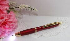 2 in 1 Bel Arte Red With Gold Lighted Tip  Metal Ballpoint Pen  - HIGH QUALITY