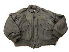 Flight Jacket Flyer's CWU-45/P Vintage MENS Large 42-44 Sage Green Military