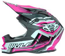 Wulfsport Kids Junior Youth Vantage Motocross Helmet MX ACU Gold Off Road Pink