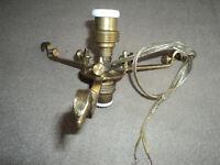 monture bronze ou laiton lampe muller daum legras art nouveau deco douille 1900