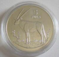 Botswana 5 Pula 1978 15 Jahre WWF Spießbock Silber BU