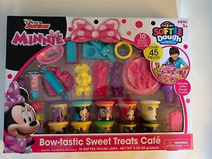 Disney Junior Minnie Bow-tastic Sweet Treats Cafe Cra-Z-Art Softee Dough Set NEW
